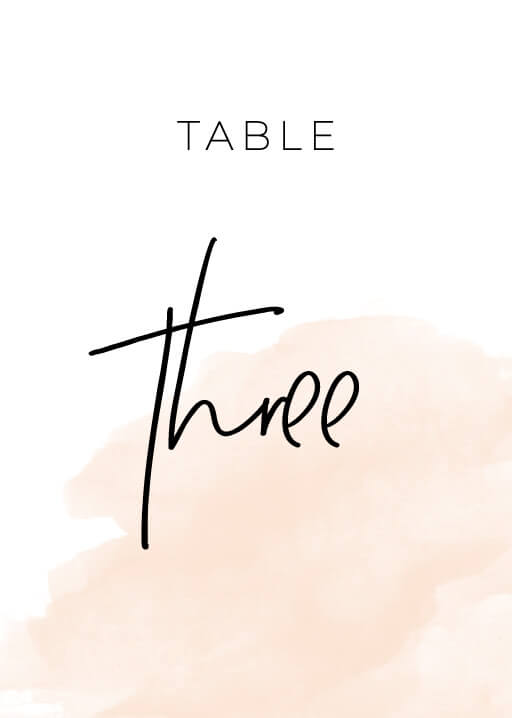 Rosey - table numbers