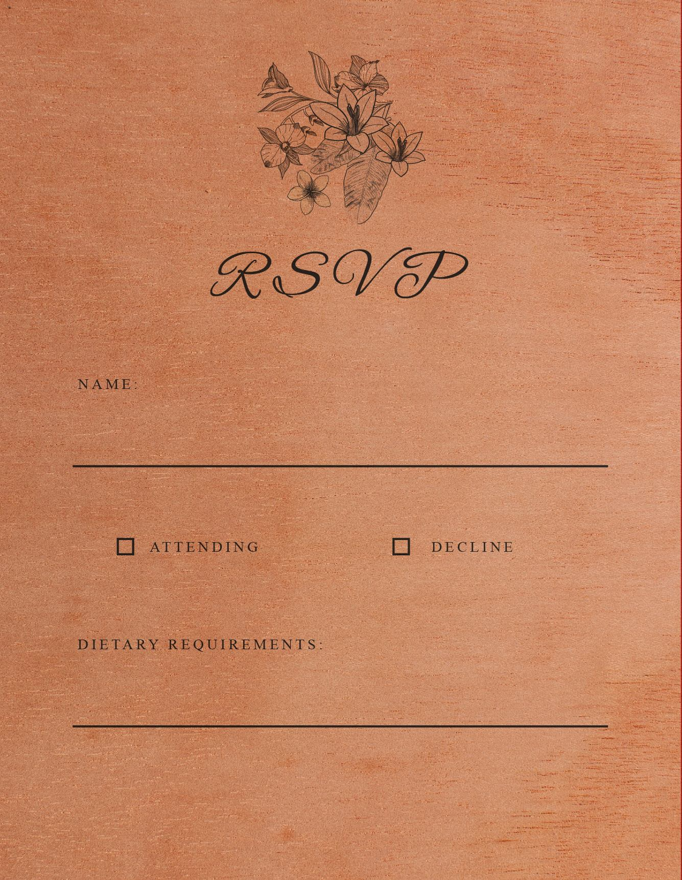 Nature - RSVP Cards