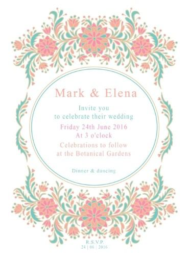 Floral - Invitations