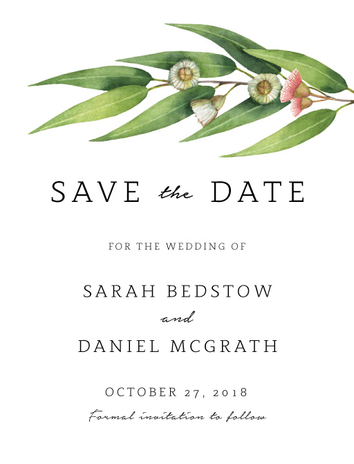 Flowering Gum - Save The Date