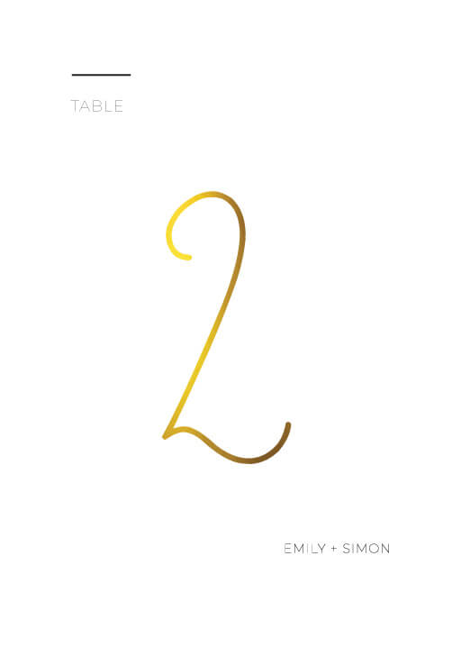 Minimalist Black and White - Table Numbers