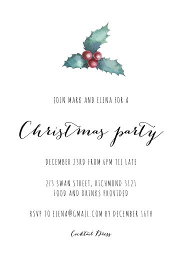 Mistle Toe - Christmas Party Invitations