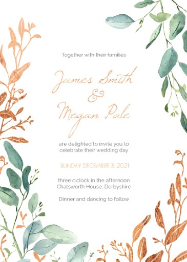 Botanical Geo - Wedding Invitations