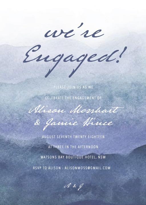 Mira - Engagement Invitations