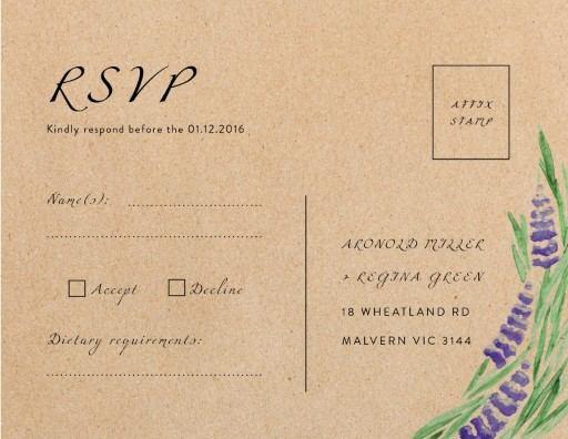 Lavender - RSVP Cards
