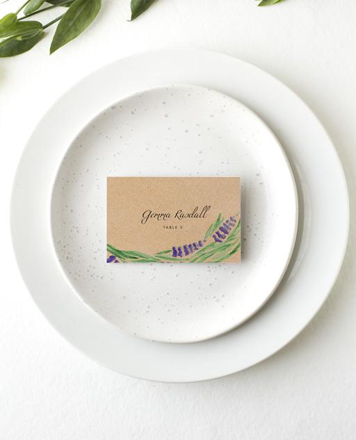 Lavender - Place Card