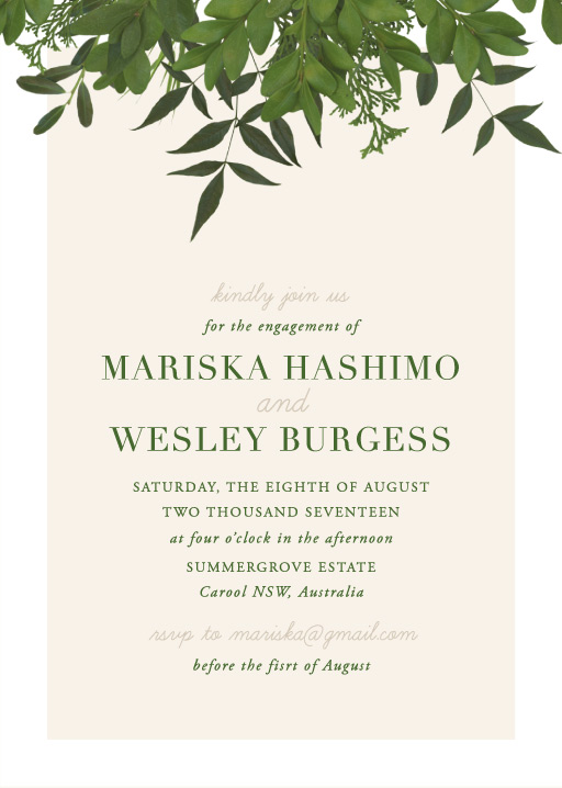 Mod Botanical - Engagement Invitations