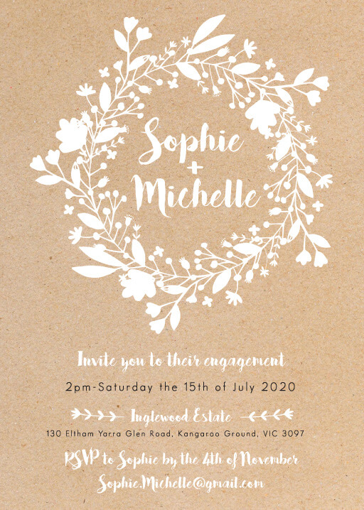 Folk Love - Engagement Invitations