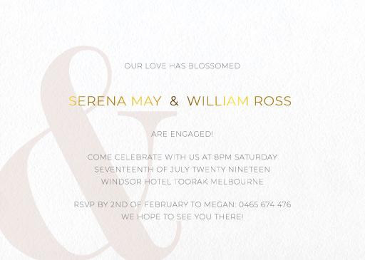 Elegant Type - Engagement Invitations
