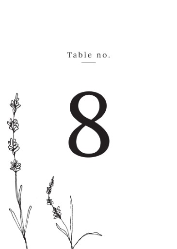 Delicate Lavender - Table Numbers