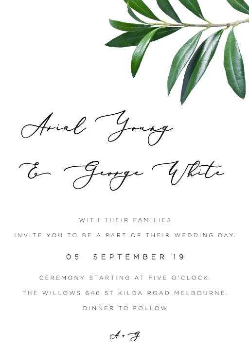 Olive - Wedding Invitations