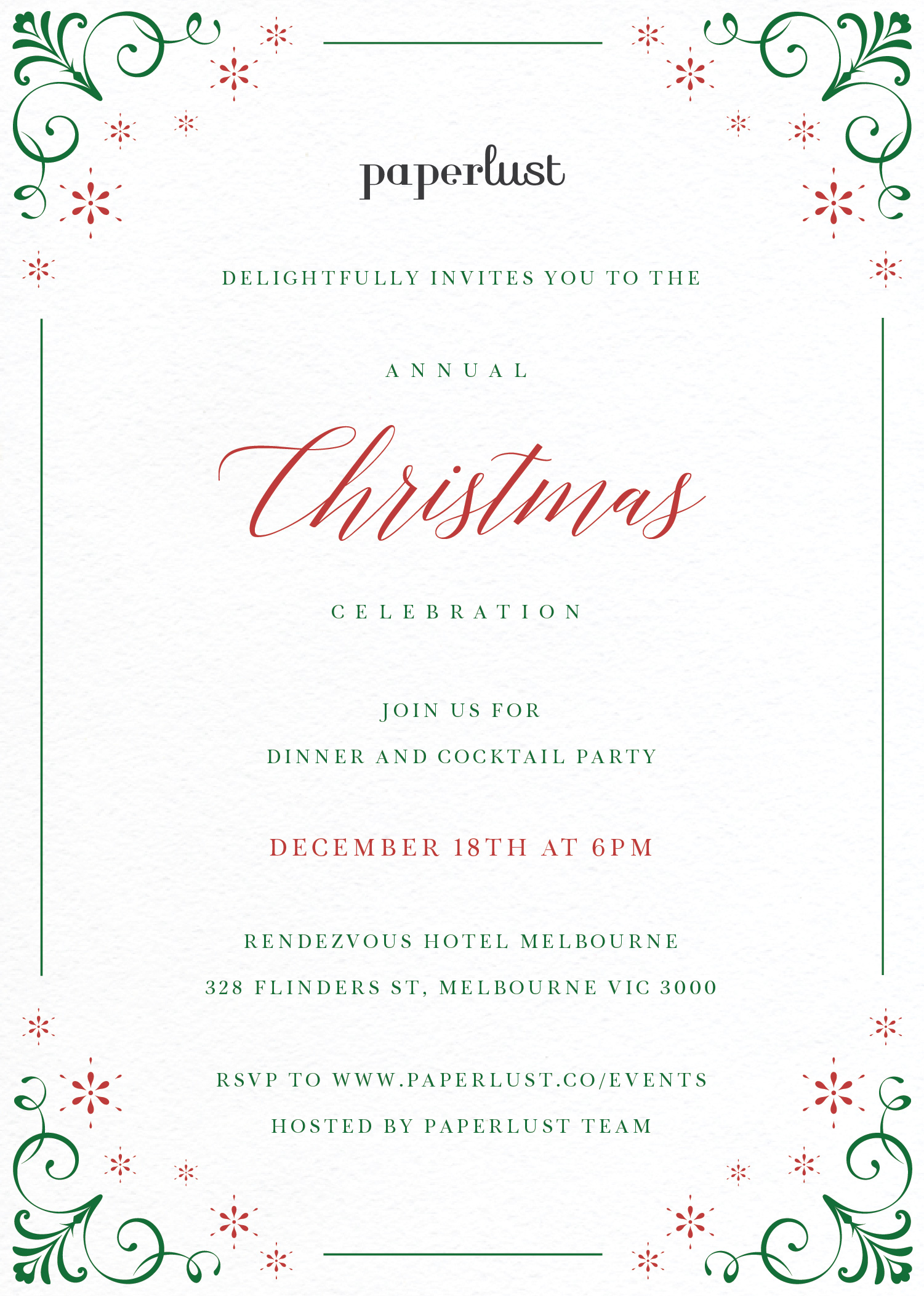 Modern Christmas - Christmas Party Invitations