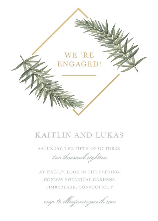 Diamond Branch - Engagement Invitations