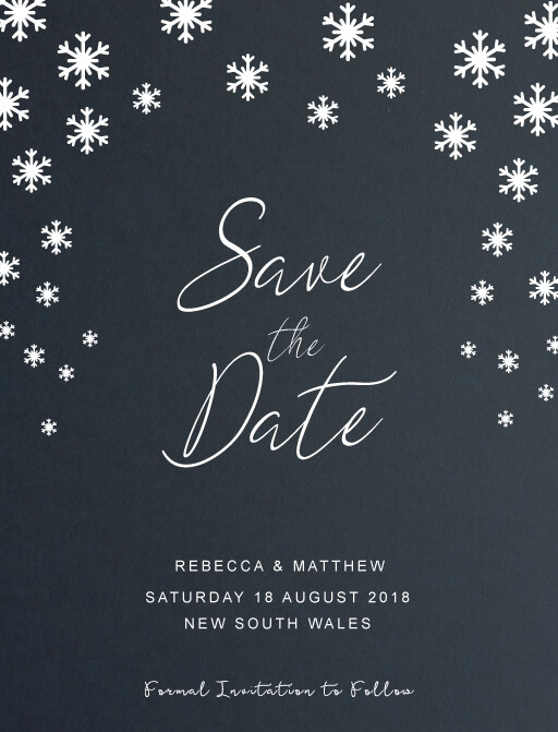 Snow fall - Save The Date
