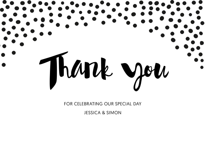 Foil Of Dreams Digital Printing Thank You Cards