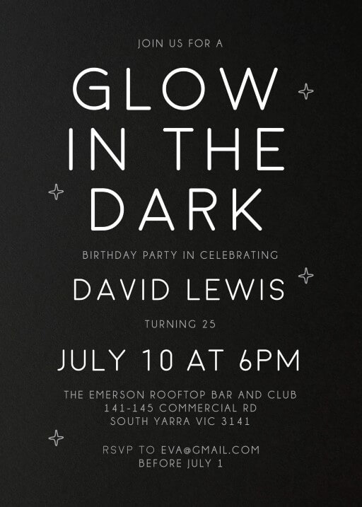 Light Oh Light - Birthday Invitations