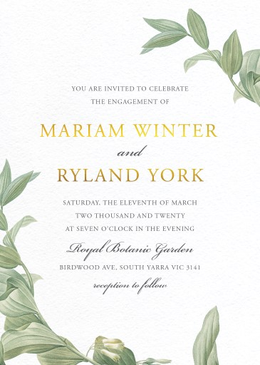 Branch - Engagement Invitations