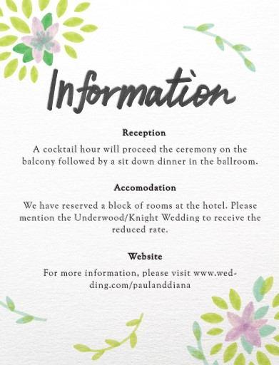 Spring - Information Card