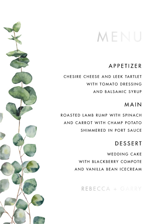 Eucalyptus Estate - Menu
