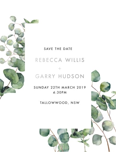 Eucalypt Estate - Save The Date