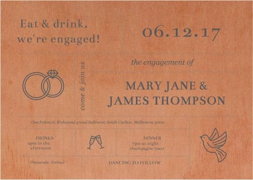 Type on Line - Engagement Invitations