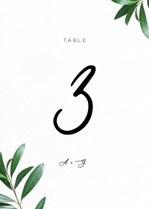 Olive - Table Numbers