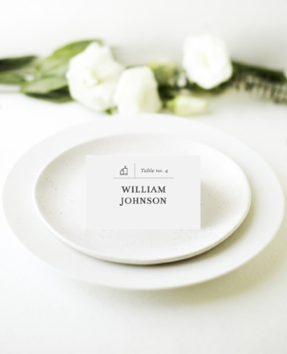 Type on Line - Place Cards