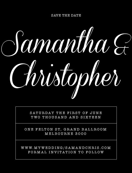 Black & White - Save The Date