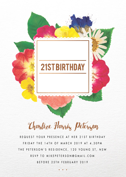 Spring collection - Birthday Invitations