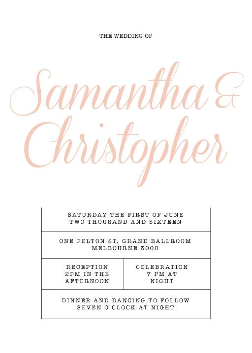 Black & White - Invitations