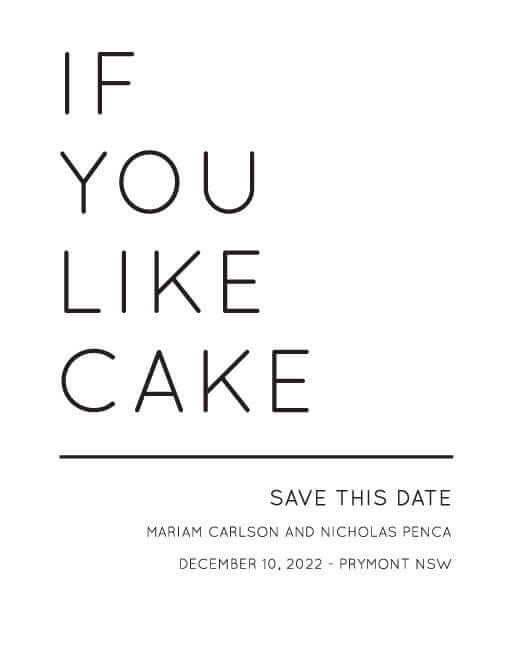 Sweet and Salty - Save The Date