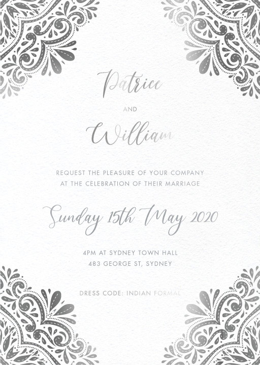 Wedding Invitations Indian Indian Wedding Invitations