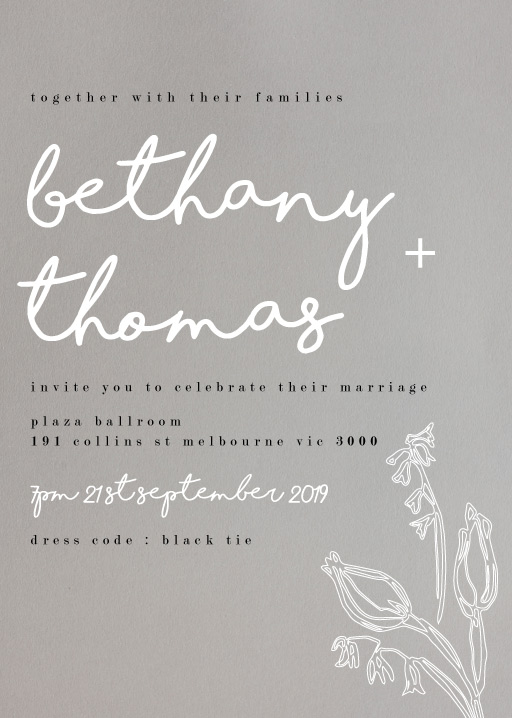 Blanc Bloom - Wedding Invitations