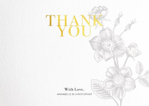 Botany Classic - Thank You Cards