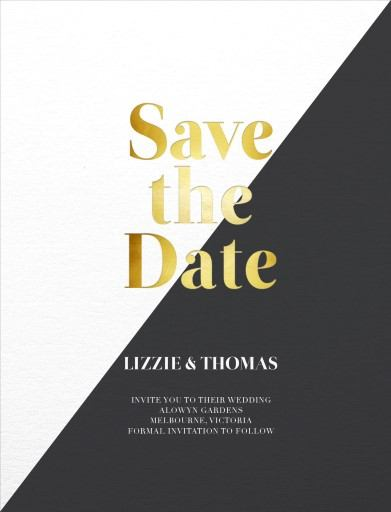 Geometric Diagonal - Save The Date