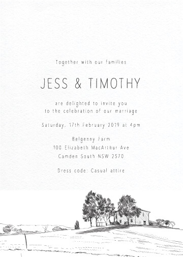 Farmyard Portrait - Wedding Invitations