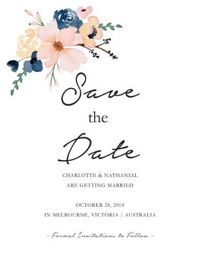 Blushing Blue - Save The Date
