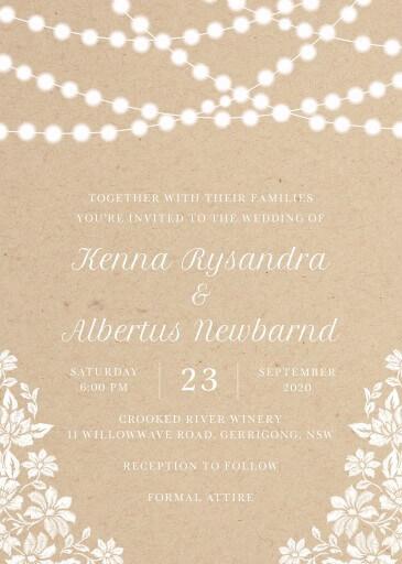 Rustic Twinkle - Wedding Invitations