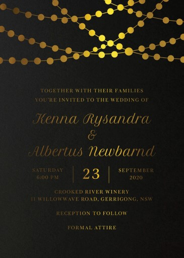 Rustic Twinkle - Wedding Invitations