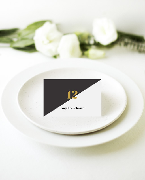 Geometric Diagonal - Place Card