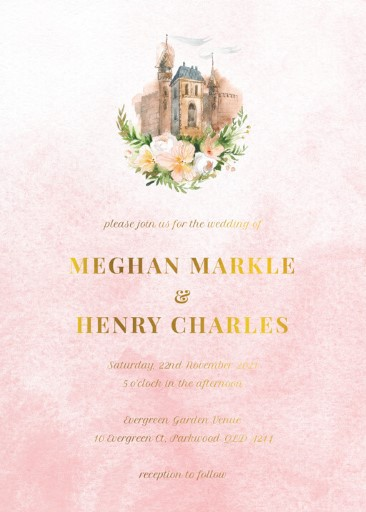 The Castle - Wedding Invitations