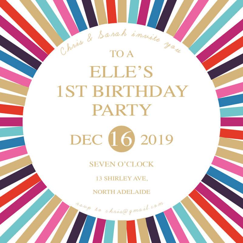 Disco Digital Printing Birthday Invitations