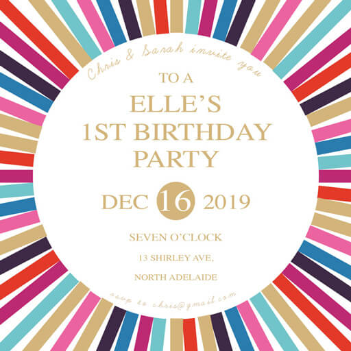 Disco - birthday invitations