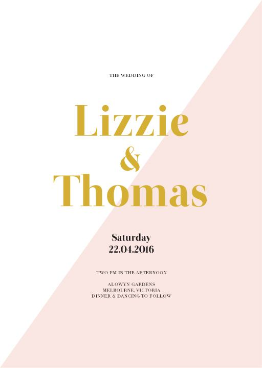 Geometric Diagonal - Invitations