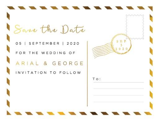 Postcard Foil - Save The Date
