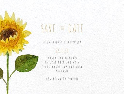 Sunflower Magic - Save The Date