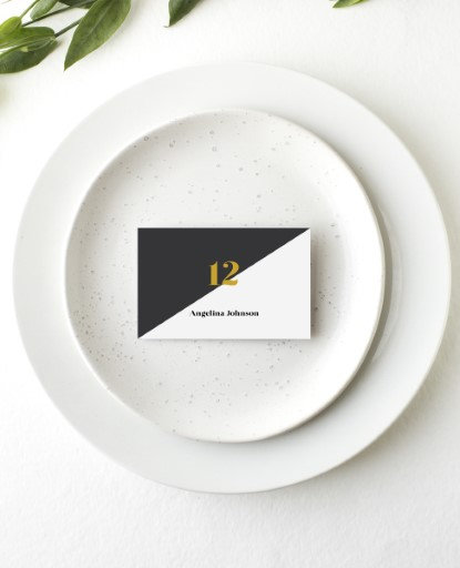 Geometric Diagonal - Place Card