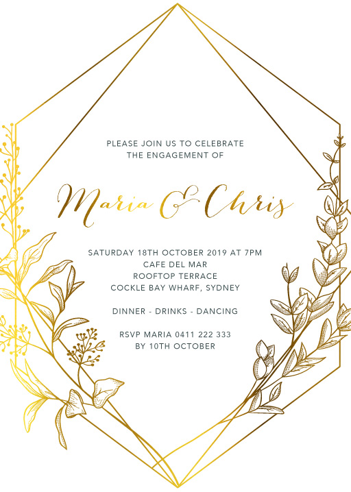 Saint Mary - Engagement Invitations