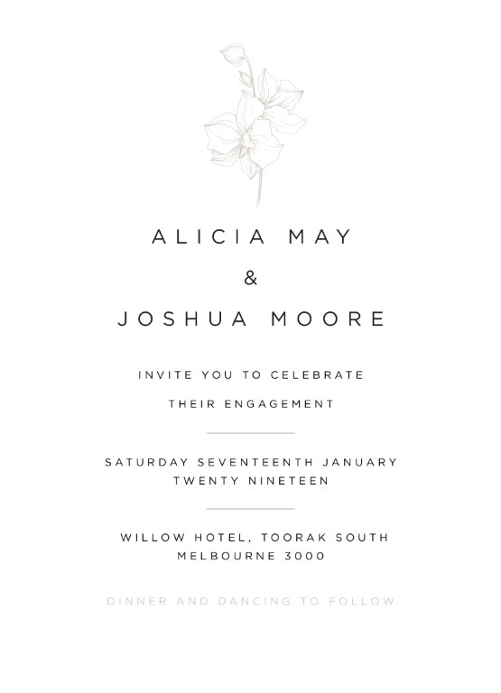 Sophia Kaplan - Engagement Invitations