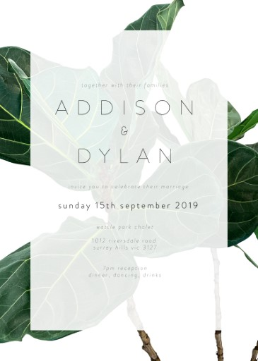 Fiddle Leaf Fig - Wedding Invitations
